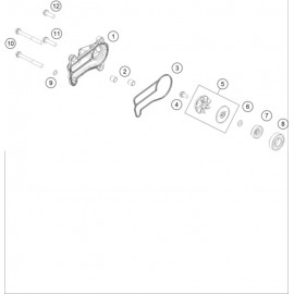 Pompe à eau ( KTM 300 EXC-TPI-Six-Days 2018 )