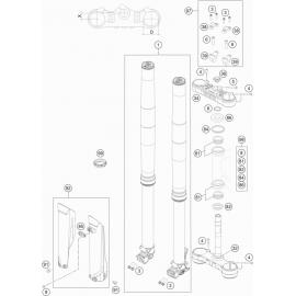 Fourche avant, Té de fourche ( KTM 250 EXC-F 2018 )