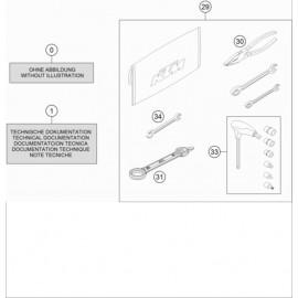 Kit accessoire ( KTM 250 EXC-F 2018 )