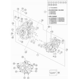 Carter moteur ( KTM 250 EXC-F 2018 )