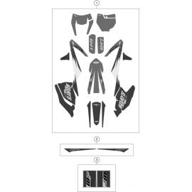 Décos, adhésif ( KTM 250 EXC-F-Six-Days 2018 )