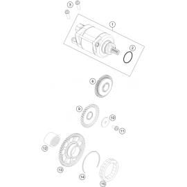 Démarreur électrique ( KTM 250 EXC-F-Six-Days 2018 )