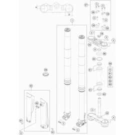 Fourche avant, Té de fourche ( KTM 350 EXC-F 2018 )
