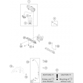 Instrumentation, blocage colonne ( KTM 350 EXC-F 2018 )