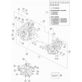 Carter moteur ( KTM 350 EXC-F 2018 )