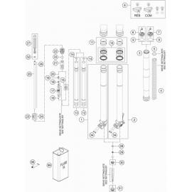 Fourche avant éclatée ( KTM 450 EXC-F 2018 )