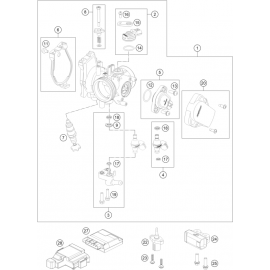 Papillon, corps d'injection ( KTM 450 EXC-F 2018 )