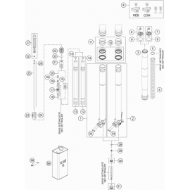 Fourche avant éclatée ( KTM 500 EXC-F 2018 )