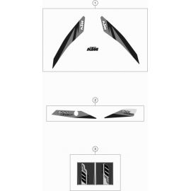 Décos, adhésif ( KTM 500 EXC-F 2018 )