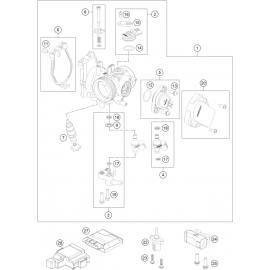 Papillon, corps d'injection ( KTM 500 EXC-F 2018 )