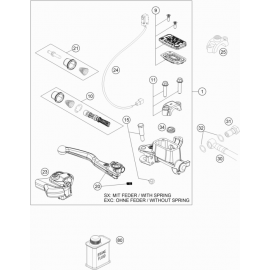 Cylindre de frein avant ( KTM 500 EXC-F-Six-Days 2018 )