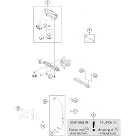 Instrumentation, blocage colonne ( KTM 500 EXC-F-Six-Days 2018 )