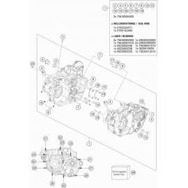 Carter moteur ( KTM 500 EXC-F-Six-Days 2018 )
