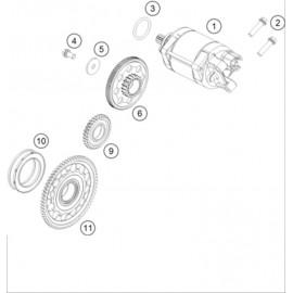 Démarreur électrique ( KTM 500 EXC-F-Six-Days 2018 )