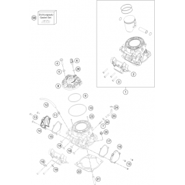 Cylindre, culasse ( KTM 250 EXC-TPI 2019 )