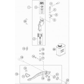 Commande de frein arrière ( Husqvarna TE 150 2021 )