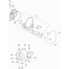 Carter d'embrayage ( Husqvarna FE 250 2021 )
