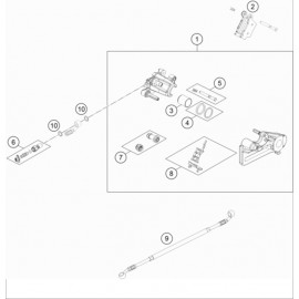 Etrier de frein arrière ( Husqvarna FE 501 2021 )