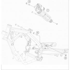 Amortisseur arrière ( Husqvarna TC 65 2021 )