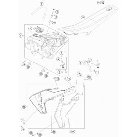 Réservoir, Selle, Cache réservoir ( Husqvarna TC 65 2021 )