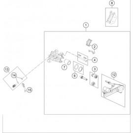 Etrier de frein arrière ( Husqvarna TC 85 17/14 2021 )