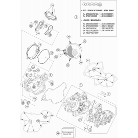 Carter moteur ( Husqvarna TC 85 17/14 2021 )