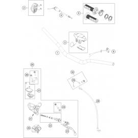 Guidon, Commandes ( Husqvarna TC 85 19/16 2021 )