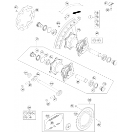Roue arrière ( Husqvarna TC 85 19/16 2021 )