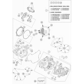Carter moteur ( Husqvarna TC 85 19/16 2021 )
