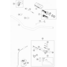 Guidon, Commandes ( Husqvarna TC 125 2021 )