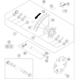 Roue avant ( Husqvarna TC 125 2021 )