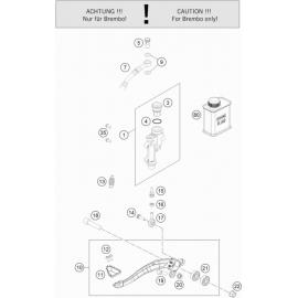 Commande de frein arrière ( Husqvarna TC 125 2021 )