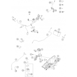 Cables, Faisceaux ( Husqvarna FC 350 2021 )