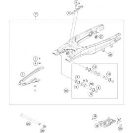 Bras oscillant ( Husqvarna FC 450 2021 )