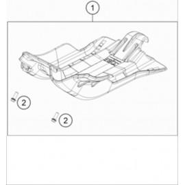 Protection moteur, sabot ( KTM 250 EXC-TPI-Six-Days 2019 )