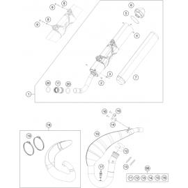Echappement ( KTM 250 EXC-TPI-Six-Days 2019 )