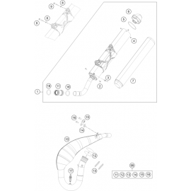 Echappement ( KTM 300 EXC-TPI 2019 )