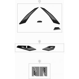 Décos, adhésif ( KTM 250 EXC-F 2019 )