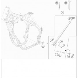 Béquille Latérale / Centrale ( KTM 250 EXC-F-Six-Days 2019 )