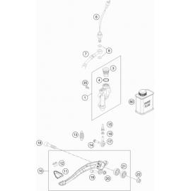 Commande de frein arrière ( KTM 450 EXC-F 2019 )