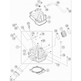 Culasse ( KTM 450 EXC-F-Six-Days 2019 )