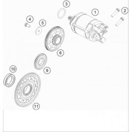 Démarreur électrique ( KTM 450 EXC-F-Six-Days 2019 )