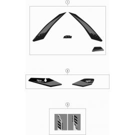 Décos, adhésif ( KTM 500 EXC-F 2019 )