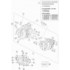 Carter moteur ( KTM 500 EXC-F 2019 )