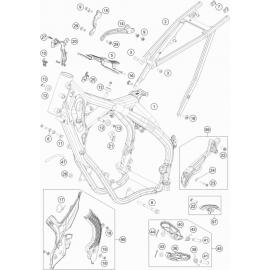 Cadre ( KTM 150 EXC-TPI 2020 )