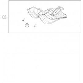 Protection moteur, sabot ( KTM 150 EXC-TPI 2020 )