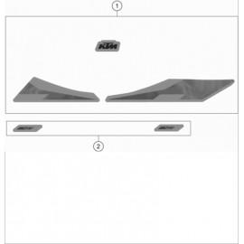 Décos, adhésif ( KTM 150 EXC-TPI 2020 )