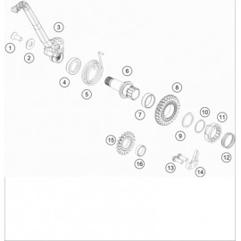 Kick de démarrage ( KTM 150 EXC-TPI 2020 )
