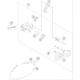Etrier de frein arrière ( KTM 250 EXC-TPI 2020 )