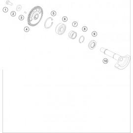 Arbre d'équilibrage ( KTM 250 EXC-TPI 2020 )